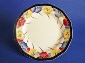 Royal Doulton 'Pansies' Series Art Deco Tea Plate D4049 c1929